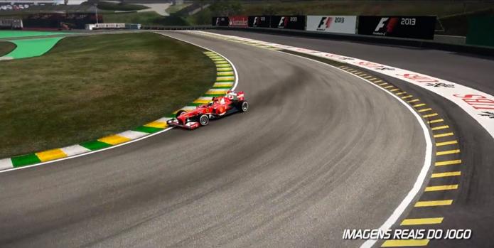 Ferrari do Felipe Massa em volta rápida. (Foto: Reprodução)