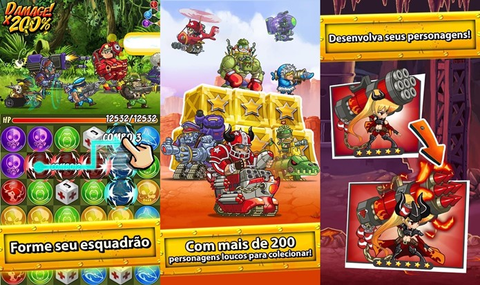Puzzle Trooper une vários estilos em uma jogabilidade divertida (Foto: Divulgação)