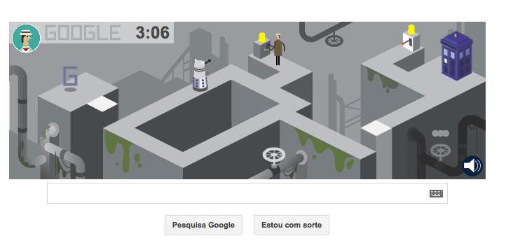 Primeira fase do game do Doctor Who no Doodle do Google (Foto: Reprodução/Google)