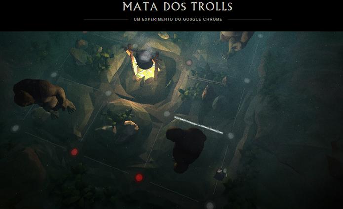 Uma das missões é escapar dos trolls em um cenário de tabuleiro (Foto: Reprodução)