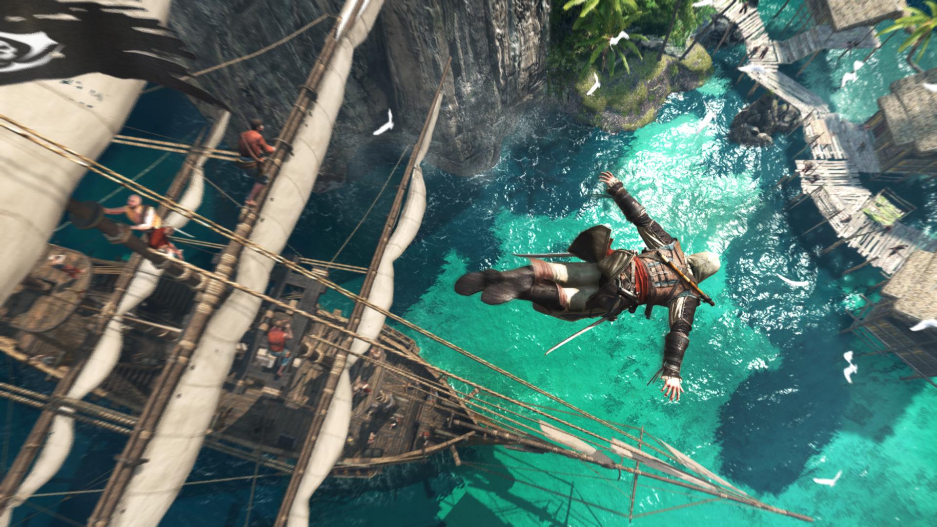 A escolha das praias caribenhas foi uma ótima oportunidade para mostrar as belezas de Assassin's Creed IV (Foto: Divulgação)