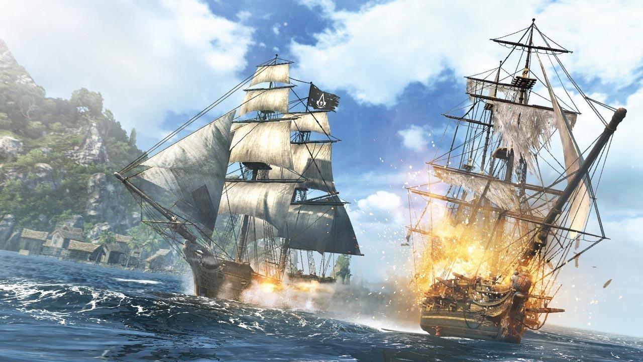 Assassin's Creed: batalhas navais são uma novidade em Black Flag, aumentando a diversão durante o jogo (Foto: Divulgação)
