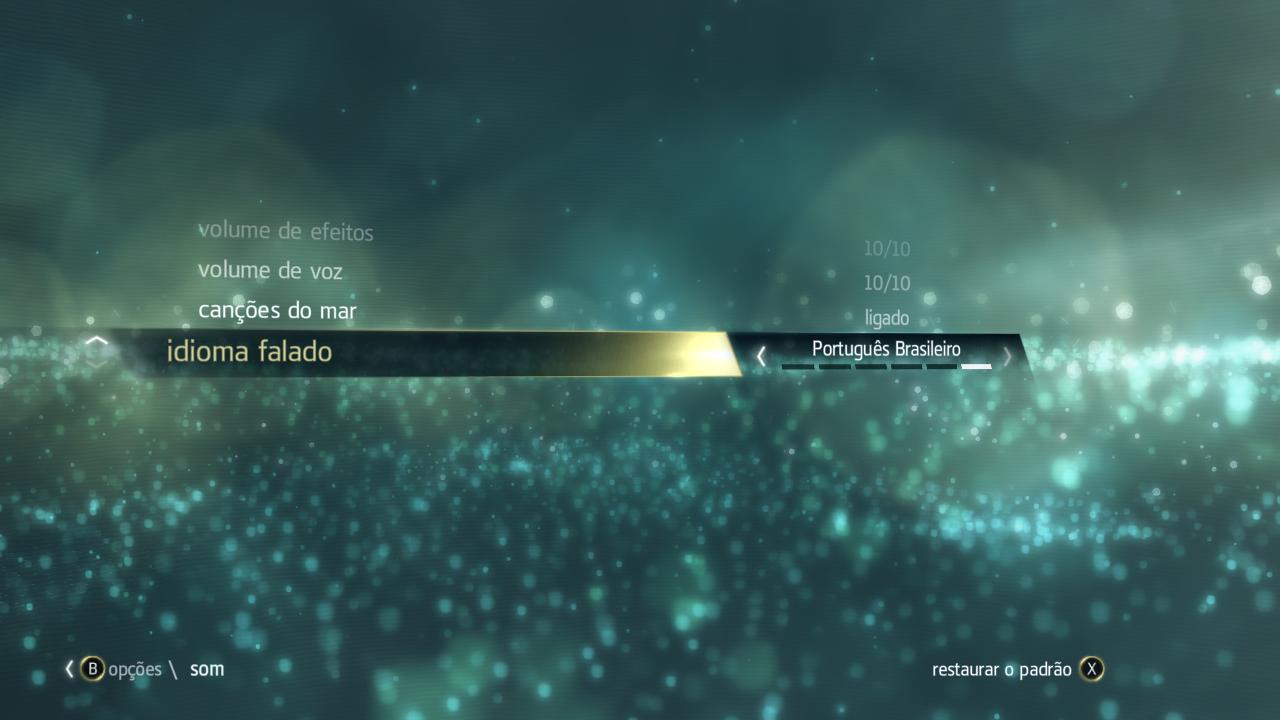 Assim como em Assassin's Creed III, Black Flag conta com conteúdo 100% em Português Brasileiro (Foto: Reprodução/Xbox-Link)