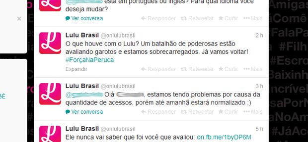 Lulu: aplicativo que permite mulheres avaliarem homens fica fora do ar (Foto: Reprodução/Twitter)