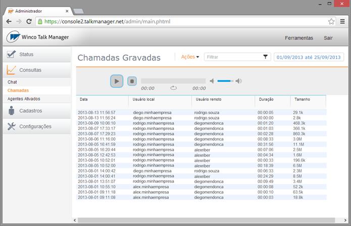 Software grava mensagens automaticamente na nuvem (foto: Reprodução/Winco)