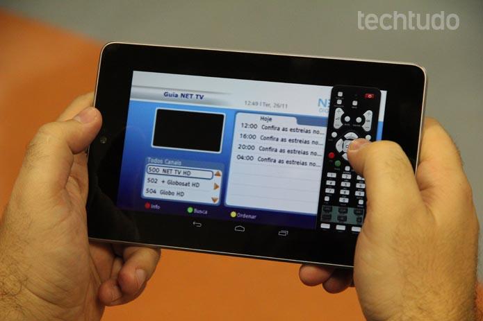 Aparelho da NET entrega áudio, mas sem imagem por proteção ao conteúdo (Foto: TechTudo/Luciana Maline)