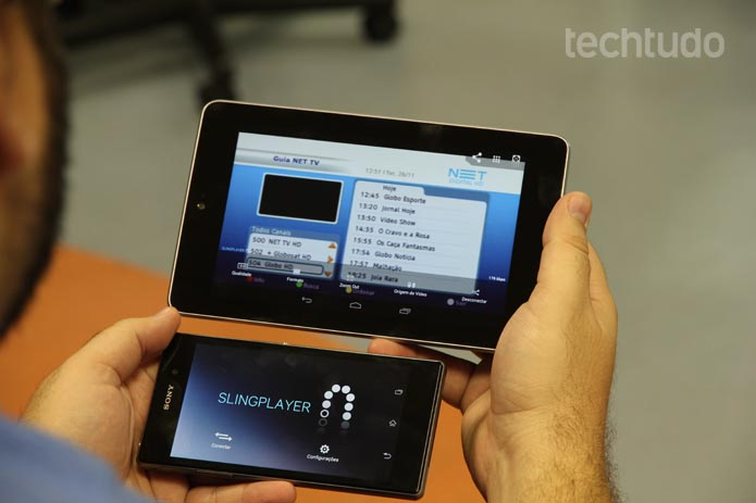 Apps móveis funcionaram muito bem nos tablets e smartphones (Foto: TechTudo/Luciana Maline)