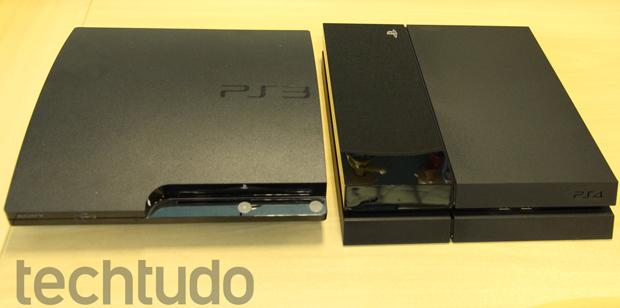 Comparação entre o PlayStation 3 e o PlayStation 4 (Foto: Luciana Maline/ TechTudo)
