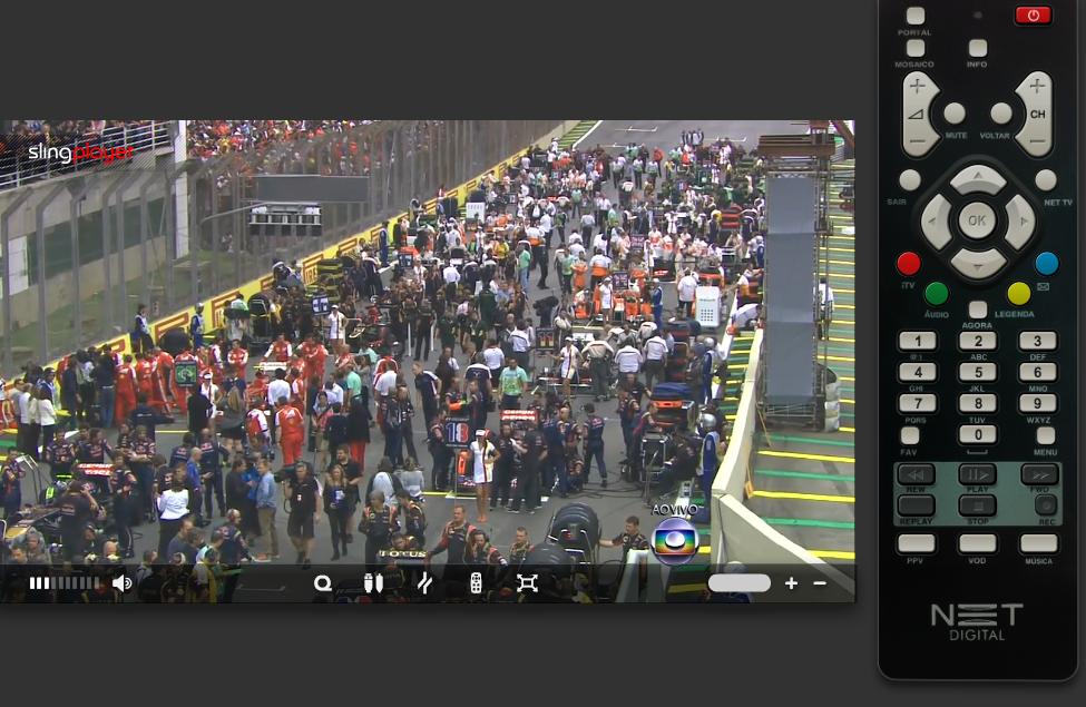 GP Brasil de F1 rodando ao vivo pelo slingplayer em alta definição (Foto: Rodrigo Bastos/TechTudo)