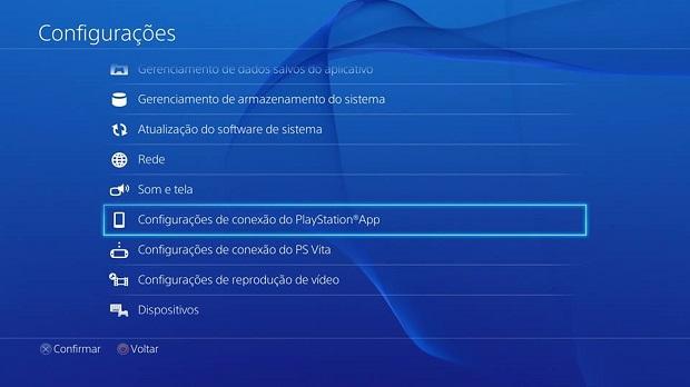 Menu de configurações tem opção do app (Foto: Reprodução/Thiago Barros)