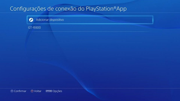 Adicione o seu celular ao PS4 (Foto: Reprodução/Thiago Barros)