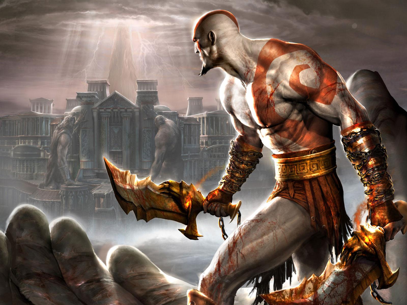 Blades of Chaos: as duas lâminas são presas aos braços de Kratos e não podem ser removidas (Foto: Divulgação)