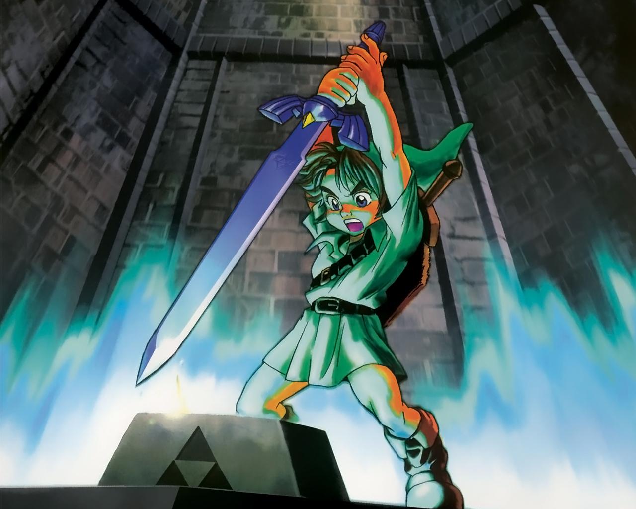 Master Sword: dependendo da versão do jogo, esta espada pode ser encontrada em florestas ou em templos (Foto: Divulgação)