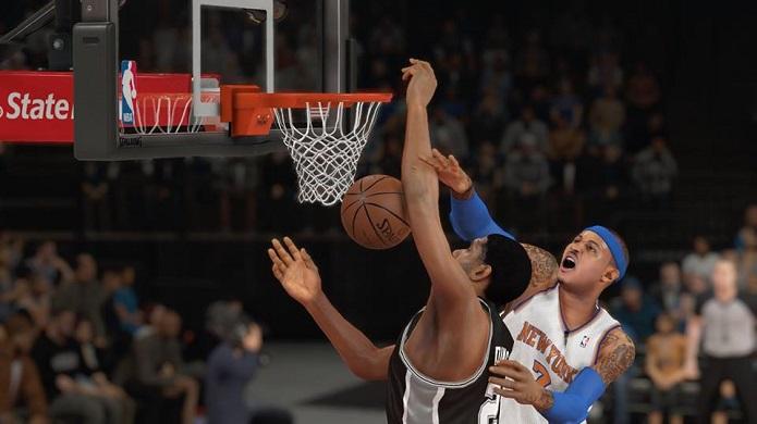 O mesmo Carmelo, agora no NBA 2K14 (Foto: Thiago Barros/TechTudo)