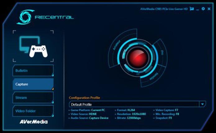 Software da Live Gamer Portable não oferece tantas opções (Foto: Reprodução/Débora Magri)