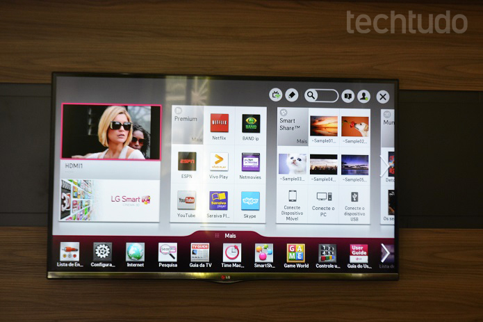 Modelo da LG tem 47 polegadas, 3D, resolução Full HD e novo controle com busca por voz (Foto: Thiago Barros/TechTudo)