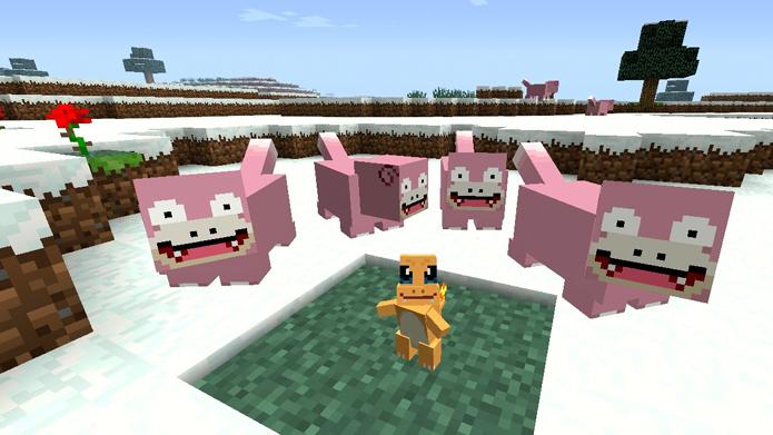 Neste Mod para Minecraft é possível fazer Pokémons (Foto: Divulgação)