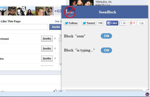 Com o SeenBlock, o usuário tem como opção bloquear quando a mensagem foi vista e quando ele está escrevendo (Foto: Reprodução/TechTudo)