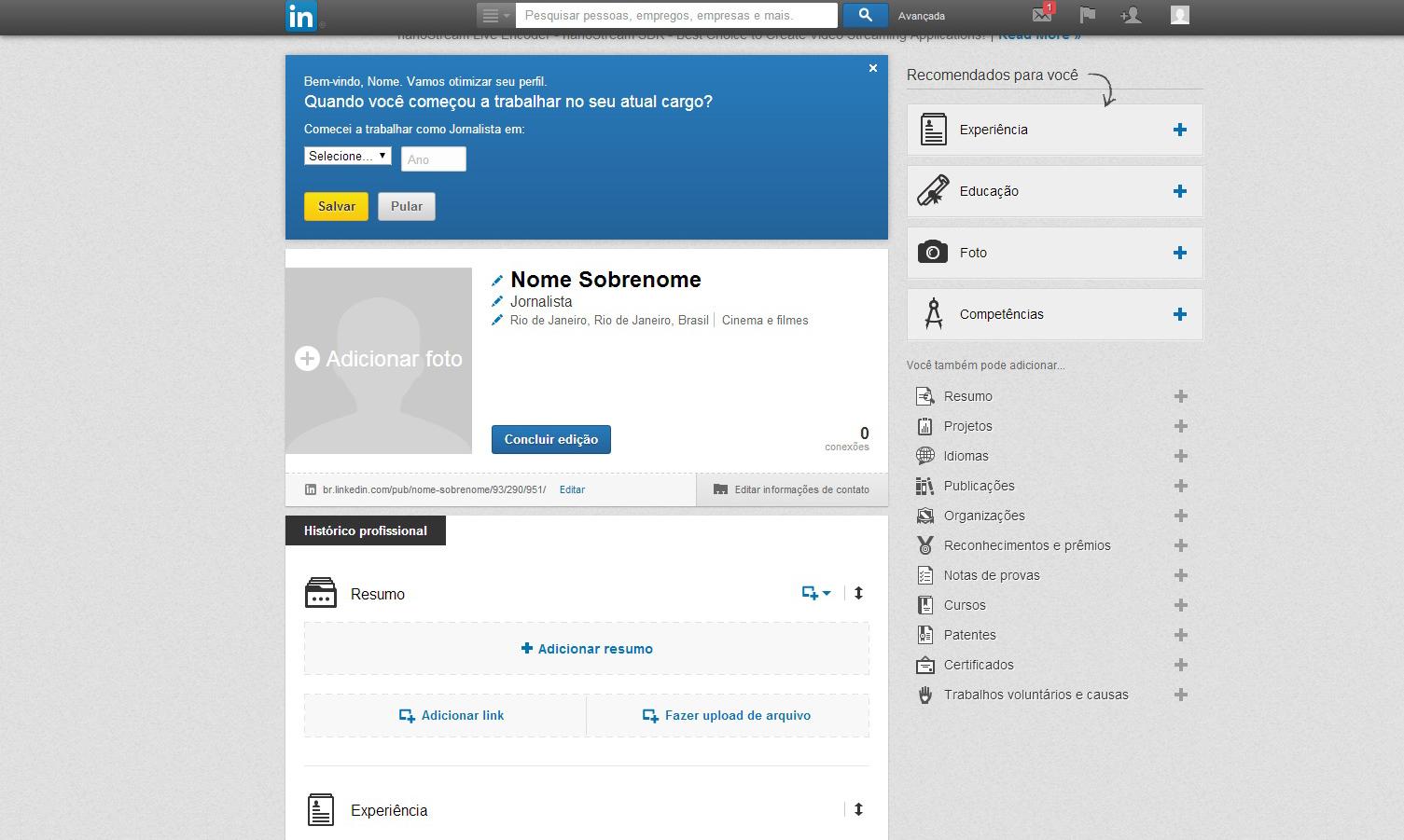 LinkedIn (Foto: Reprodução/Barbara Mannara)