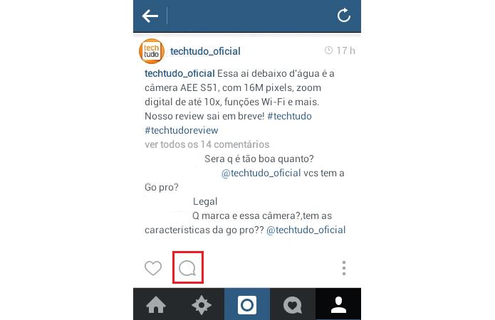 Vá nos comentários do Instagram para apagar mensagens indesejadas (Foto: Reprodução/TechTudo)
