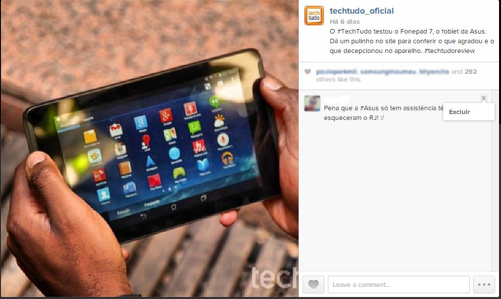 Exclua os comentários indesejados do Instagram também pelo site (Foto: Reprodução/TechTudo)