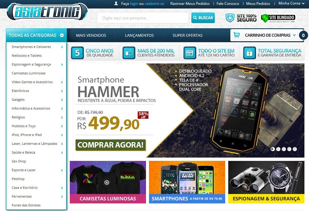 Asiatronic é mais um dos sites que entregam produtos chineses no Brasil (Foto: Reprodução/Barbara Mannara)