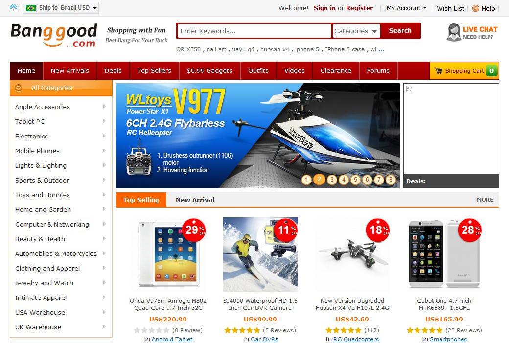 BangGood.com entrega seus produtos no Brasil (Foto: Reprodução/Barbara Mannara)