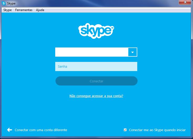 """Selecione a opção """"Não consegue acessar a sua conta?"""" para redefinir sua senha do Skype (Foto: Reprodução/Carol Danelli)"""