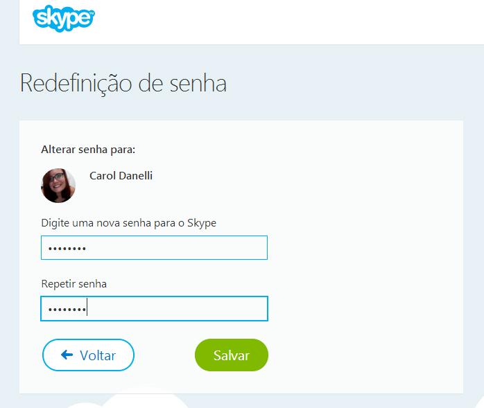 Redefina sua senha do Skype e recupere sua conta (Foto: Reprodução/Carol Danelli)