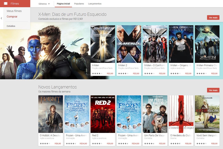 Acesse o Google Play e escolha seus filmes prediletos para assistir diretamente no seu Android (Foto: Reprodução/Carol Danelli)