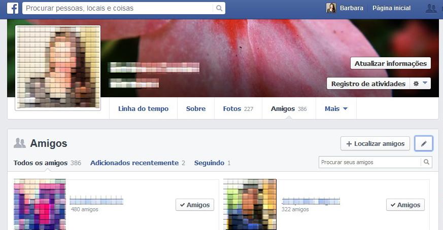 Bloqueie a sua lista de amigos do Facebook para desconhecidos (Foto: Reprodução/Barbara Mannara)
