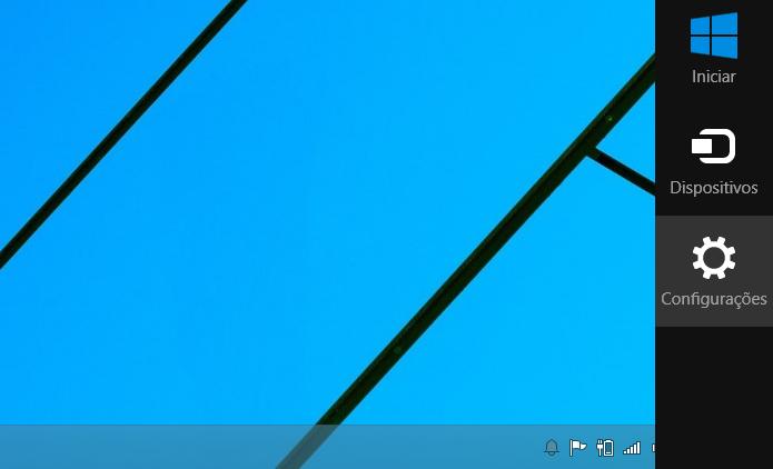 Acessando as configurações do Windows (Foto: Reprodução/Helito Bijora)