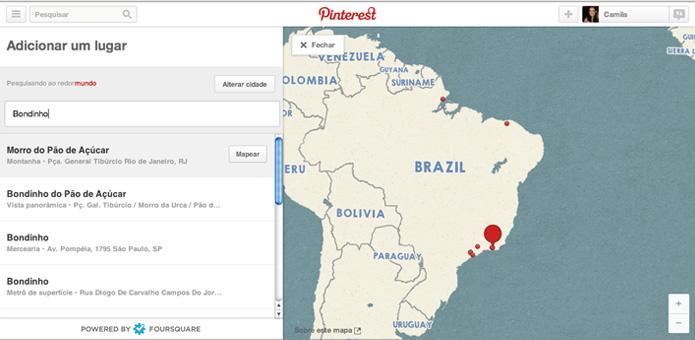 Encontre o local desejado e clique em mapear (Foto: Reprodução/ Pinterest)