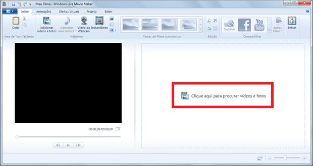 Você também pode arrastar o arquivo de vídeo e soltá-lo na tela (Foto: Reprodução / Windows Live Movie Maker)