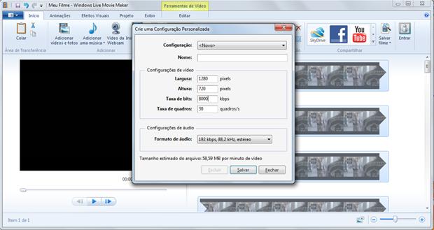É aqui que vamos mexer para conseguir alterar o tamanho do seu vídeo (Foto: Reprodução / Windows Live Movie Maker)