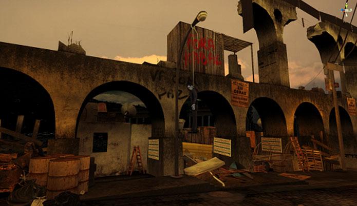 Lapa em Favela Wars (Foto: Divulgação)