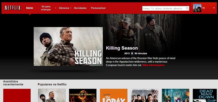 Netflix é muito popular (Foto: Reprodução/Thiago Barros)