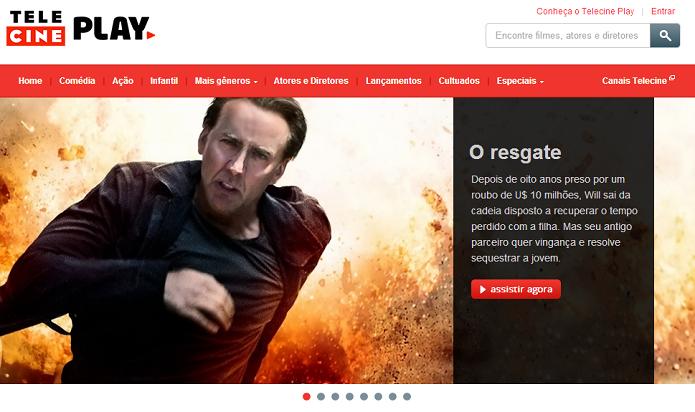 Assinantes Telecine podem ver filmes online (Foto: Reprodução/Thiago Barros)