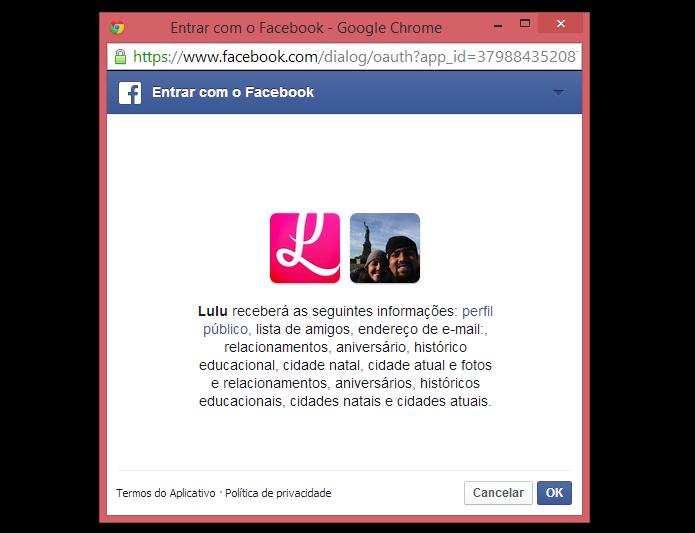 Integre o Lulu ao Facebook (Foto: Reprodução)