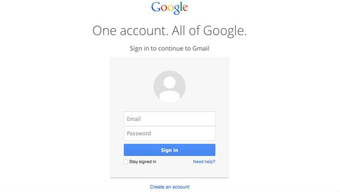 Nova tela de login possui design mais limpo (foto: Reprodução/Google)