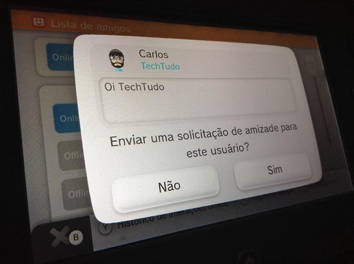 Wii U: como adicionar amigos à Nintendo Network (Foto: Reprodução/Murilo Molina)