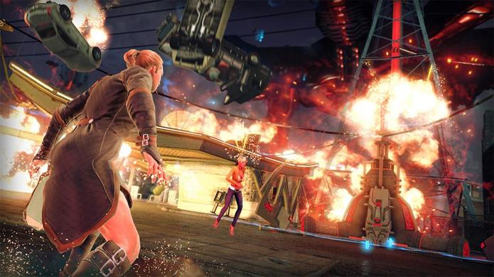 DLC Elements of Destruction traz explosões exageradas para Saints Row 4 (Foto: youtube.com)