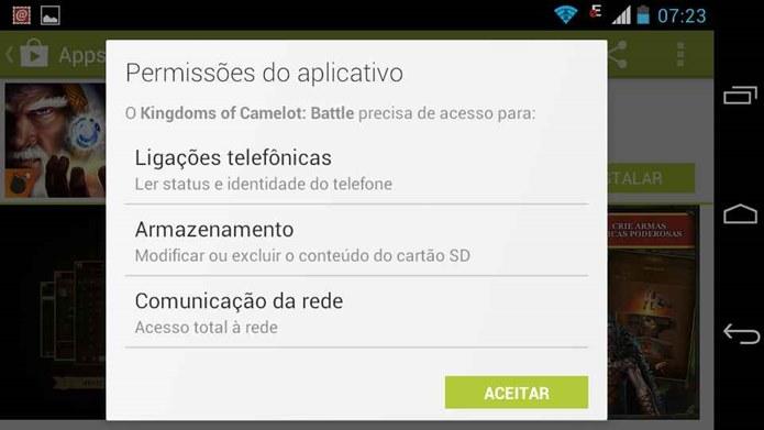 Em lojas oficiais você é possível saber as permissões dos aplicativos antes de baixar (Foto: Reprodução / Dario Coutinho)