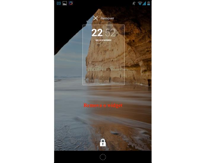 Remova o widget padrão da tela de bloqueio (Foto: Reprodução / Thiago Bittencourt)