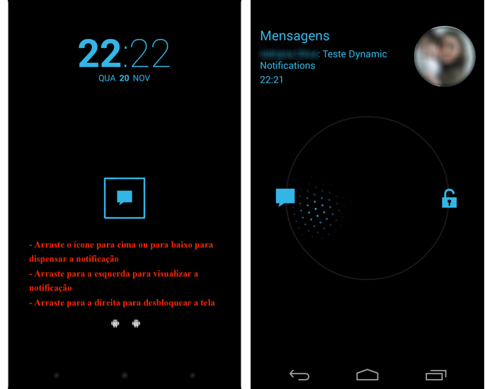 A tela do dispositivo será ativada ao receber uma notificação (Foto: Reprodução/Thiago Bittencourt)