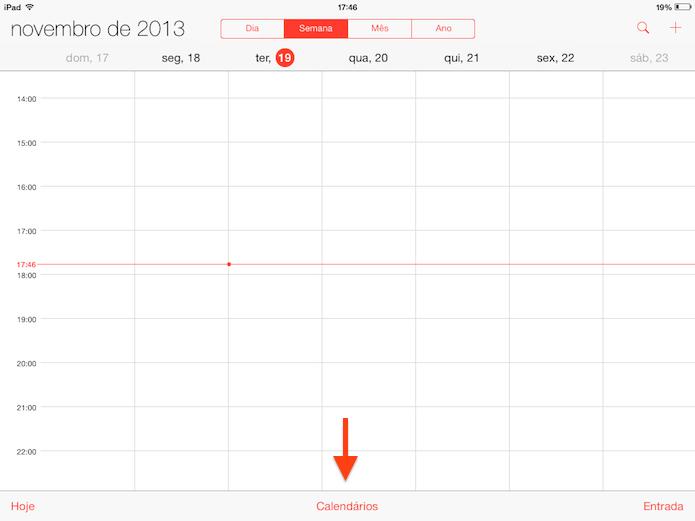 Aplicativo de calendário do iOS 7 (Foto: Reprodução/Helito Bijora)