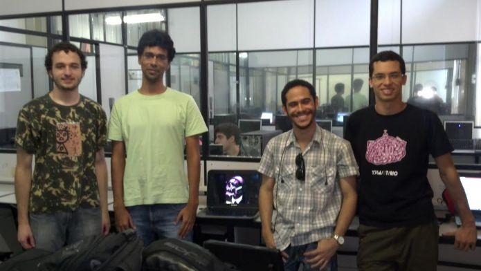 O time da Skywatch: Felipe Freichos Godoy, Luan Moura do Nascimento, Abraão Caldas de Santana e Mateus de Carvalho Azis (Foto: Arquivo Pessoal)