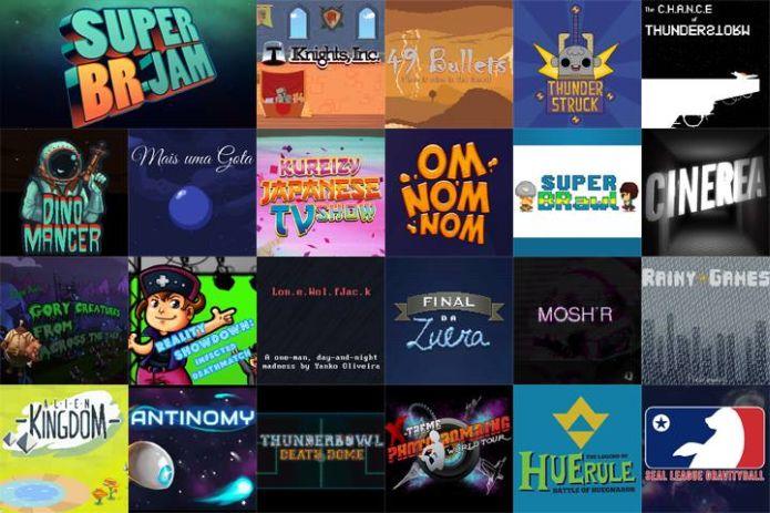 Jogos criados na Super BR Jam foram disponibilizados neste dia 3 de dezembro (Foto: Divulgação)