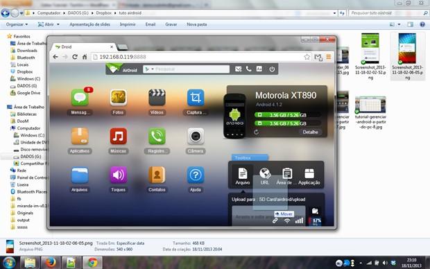 Enviado um arquivo para o Android via Wi-Fi (Foto: Reprodução / Dario Coutinho)