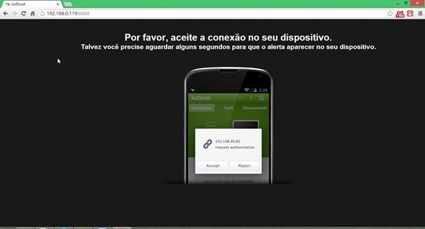 Ao acessar o endereço sugerido pelo app, é preciso confirmar pelo smartphone (Foto: Reprodução / Dario Coutinho)